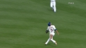Tejada's over-the-shoulder catch