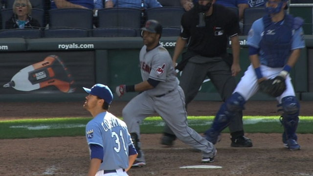 Indians see Santana staying behind the plate