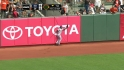 Amarista&#039;s catch at the wall
