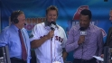 Pedro, Millar in the NESN booth