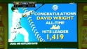 Wright's milestone hit