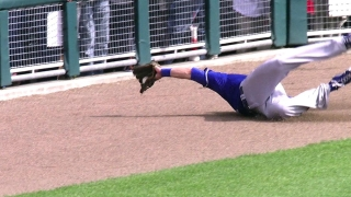 Gordon lays out for a great catch