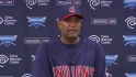 Alomar addresses the media
