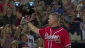 Chipper gets standing ovation