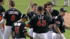 Lee ends Marlins' skid in walk-off fashion