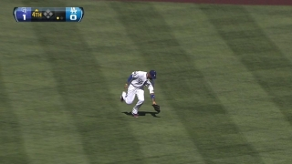 Kemp makes a great catch