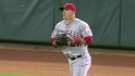 Trout&#039;s over-the-shoulder catch