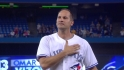 Vizquel removed to an ovation