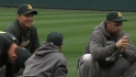 A&#039;s preview ALDS on workout day