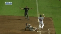 Chipper beats out infield single