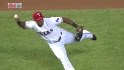 Beltre&#039;s barehanded play