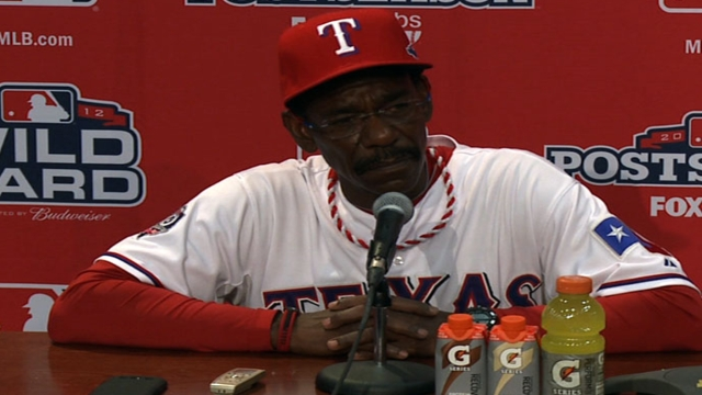Oct. 5 Ron Washington postgame interview