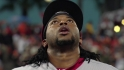Momento en que Johnny Cueto se lesiona