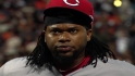 Cueto on his back injury