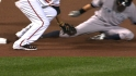 Wieters&#039; strong throw