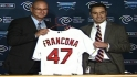 Francona introduced in Cleveland