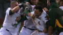 A&#039;s on walk-off win over Tigers