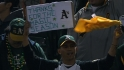 A&#039;s fans salute their team