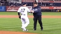 Tino throws out first pitch