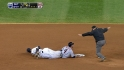 Infante ruled safe at second