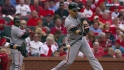 Scutaro's third-inning double