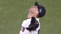 No raining on Scutaro's parade