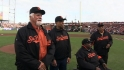Four HOFers throw first pitch