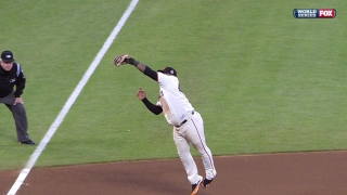 Sandoval snags it out of the air