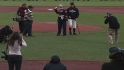 Corporal Kimmel on first pitch