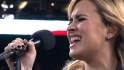 Lovato sings national anthem