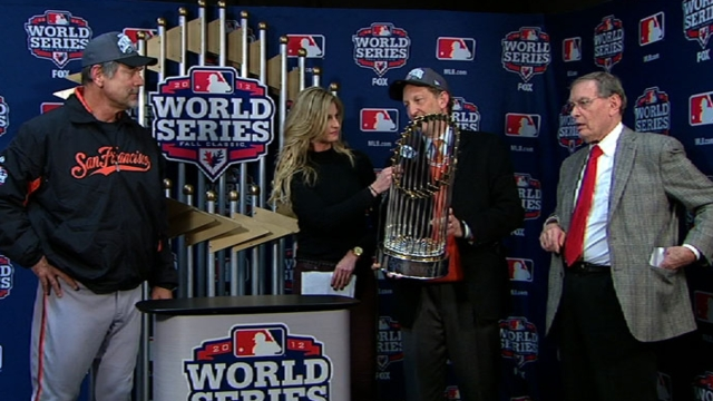 Giants' World Series trophy tour begins Tuesday