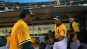 Lee on A&#039;s outfield situation