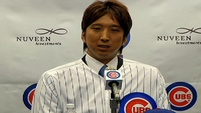 Interpreter on mound helps Fujikawa, Navarro