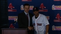 Victorino meets the Boston media