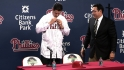 Phillies introduce Michael Young