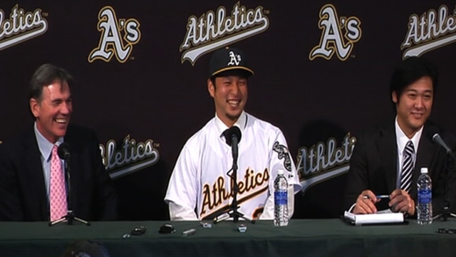 A's get Nakajima some work at second base