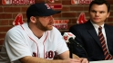 Dempster dons Red Sox jersey