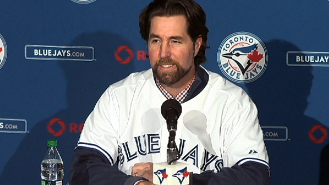 Blue Jays happy Dickey's long road led to Toronto