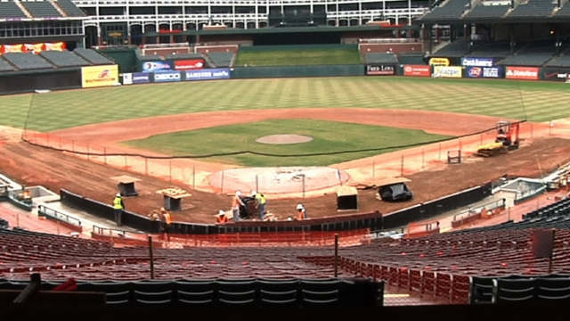 Rangers Ballpark renovations progressing nicely