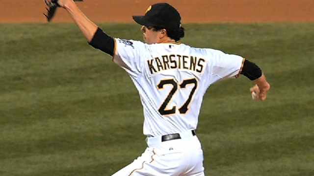 Pirates bring back Karstens on one-year deal