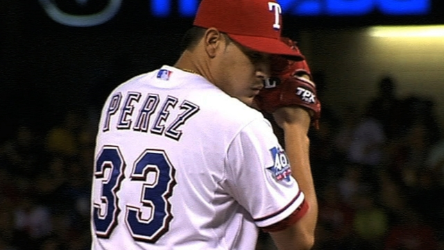 Rangers give Perez nod for Monday's opener