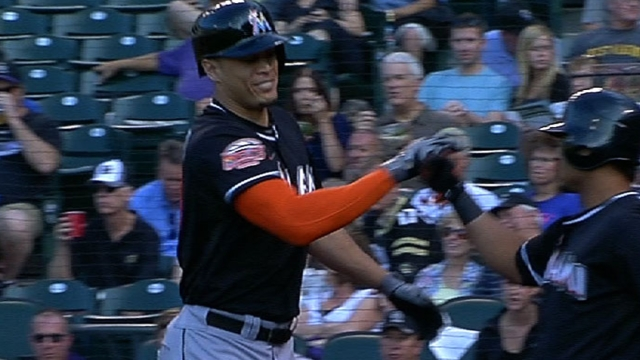Marlins hopeful Stanton settles in this spring