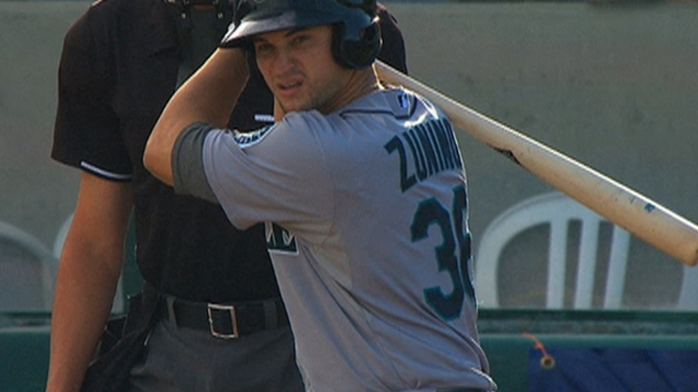 Zunino's bat scorching in first taste of Triple-A action