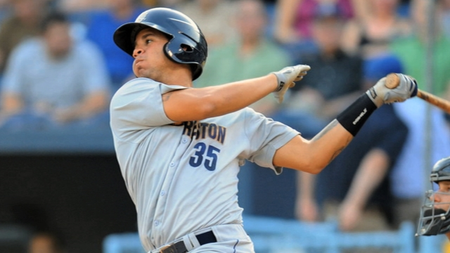 Sanchez's bat propels him up Minors ladder