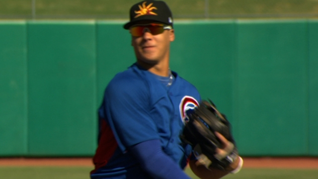Rusin, Baez steal spotlight in strong start vs. Tribe