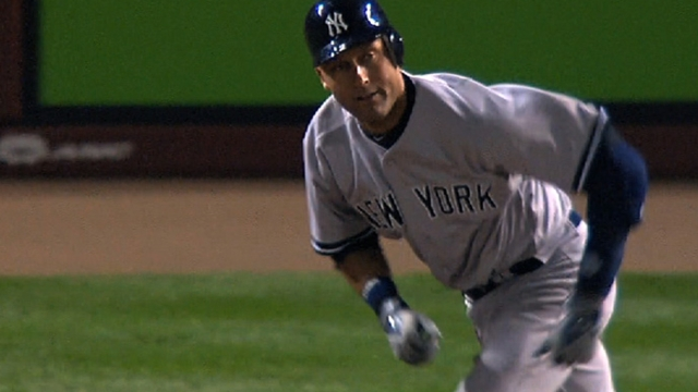 Jeter runs on treadmill, takes ground balls