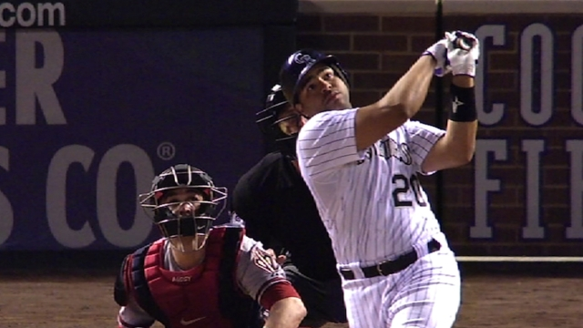 Rosario homers as Rox rough up Giants' Cain