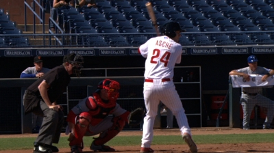 Asche surprised by promotion to Majors