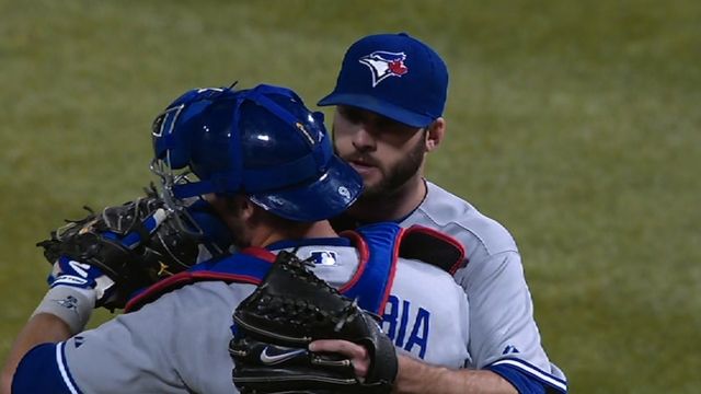 Morrow goes two frames, homer puts Toronto on board