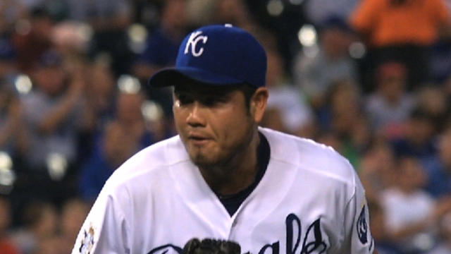 Up for Royals' fifth spot, Chen works five frames